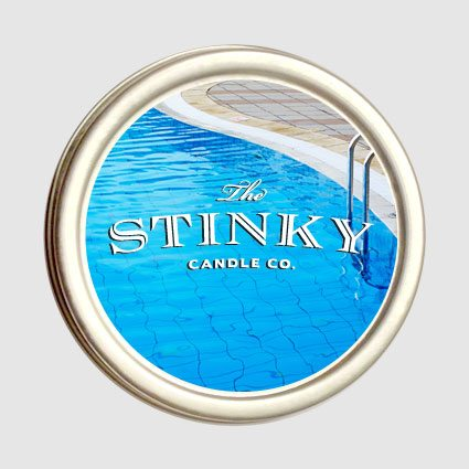chlorine candle 4 oz stinky candle co